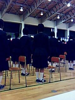 東陽中学校の卒業式