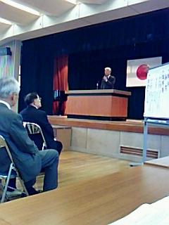 河和田地区老人クラブ連合会総会に出席