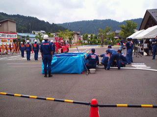 鯖江消防団消防操法大会、各分団練習の成果披露