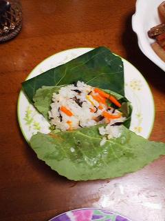 うるしの里いきいき協議会の葉寿司