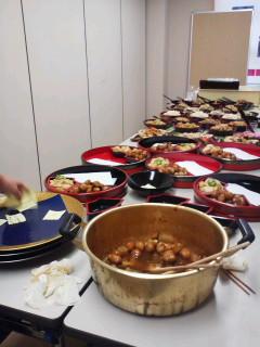 うるしの里いきいき協議会の地産地消の伝承料理で「エコプラザ記念式典」