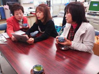 役所にご挨拶に行き、パソコン教室の打ち合わせ、鯖江市連合婦人会のブログ、FB