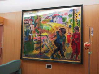 さながら画廊 丹南病院の廊下